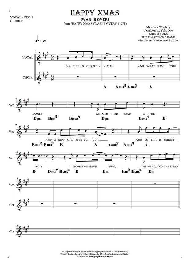 John lennon happy christmas ukulele chords new--year.info 2018