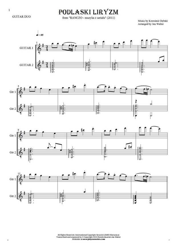 Podlaski liryzm (Ranczo) - Score