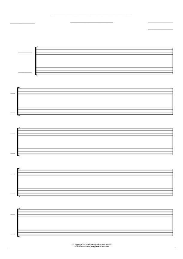 Free Blank Sheet Music - Score for 2 voices