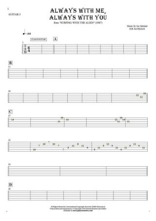 Always With Me, Always With You - Tablature for guitar - guitar 3 part