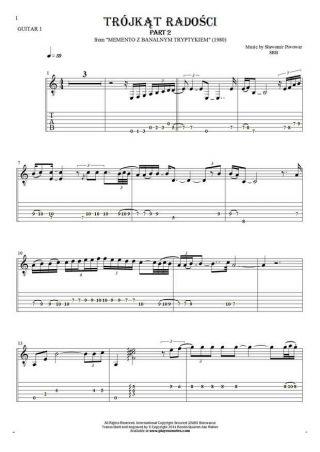 Trójkąt radości - Noten und Tabulatur für Gitarre - Gitarrestimme 1