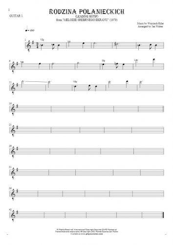 Rodzina Połanieckich - Notes for guitar - guitar 1 part