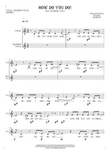 How Do You Do! - Notes, lyrics and chords for vocal with accompaniment