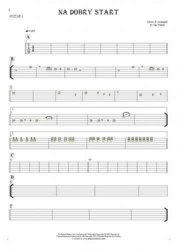 For a good start - Tablature for guitar - guitar 1 part