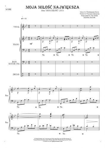 Moja miłość największa - Score