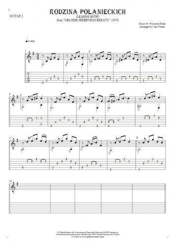 Rodzina Połanieckich - Notes and tablature for guitar - guitar 2 part