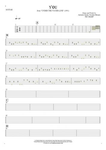 You - Tablature for guitar