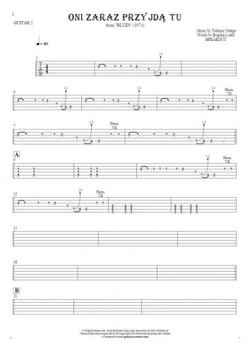 They'll be here any minute - Tablature for guitar - guitar 2 part