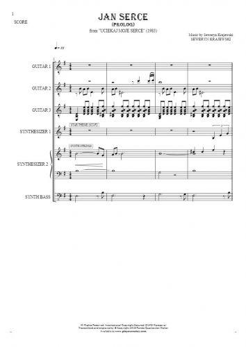 Jan Serce - Prolog - Score