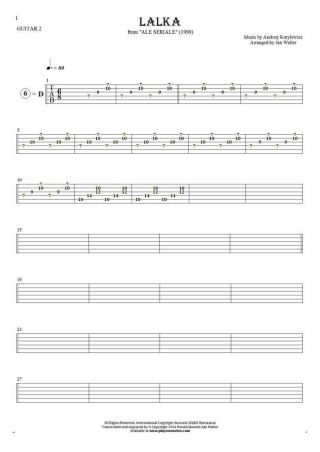 The Doll - Tablature for guitar - guitar 2 part