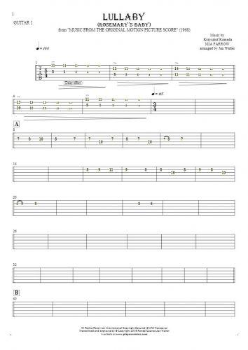 Lullaby - Rosemary's Baby - Tabulatur für Gitarre