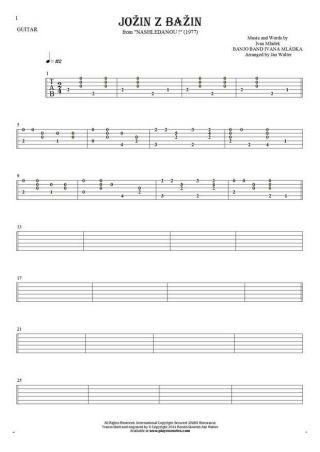 Jožin z bažin - Tabulatura na gitarę solo (fingerstyle)