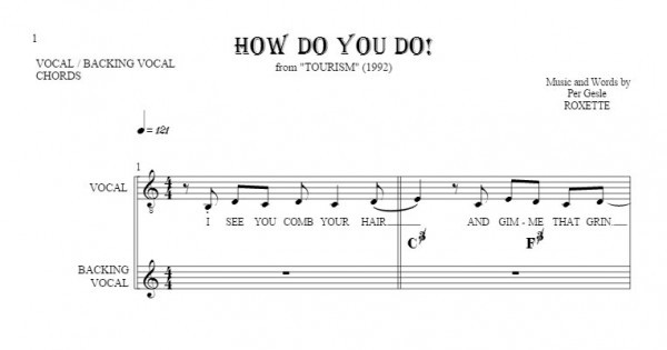 How Do You Do! - Notes, lyrics and chords for vocal with ... - photo#29