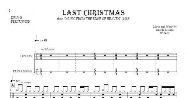 image relating to Free Printable Drum Sheet Music known as Remaining Xmas - Notes for drum package and percussion equipment  PlayYourNotes
