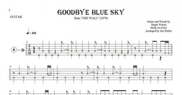 Goodbye Blue Sky by Pink Floyd - Full Score Guitar Pro Tab ...