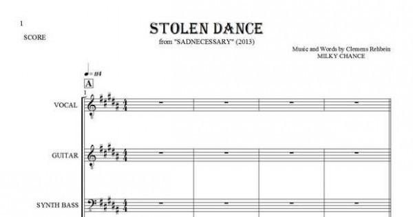 Stolen Dance - Milky Chance - Sheet music and guitar tablatures ...