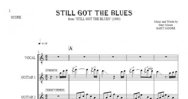 Still Got The Blues - Score | PlayYourNotes
